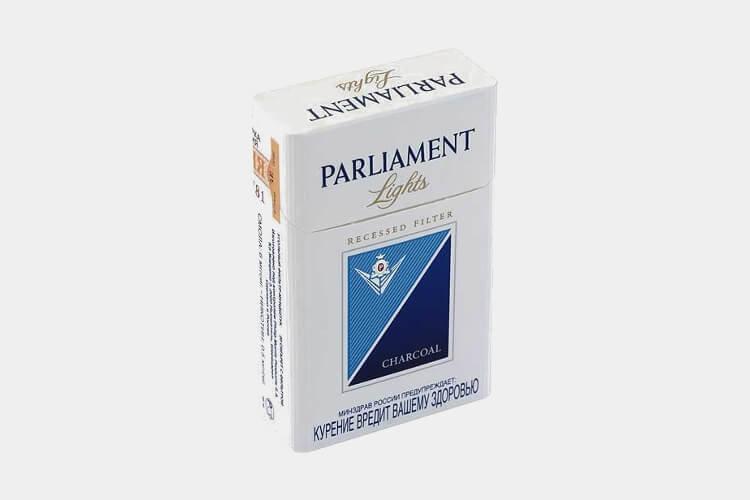 парламент легкие сигареты