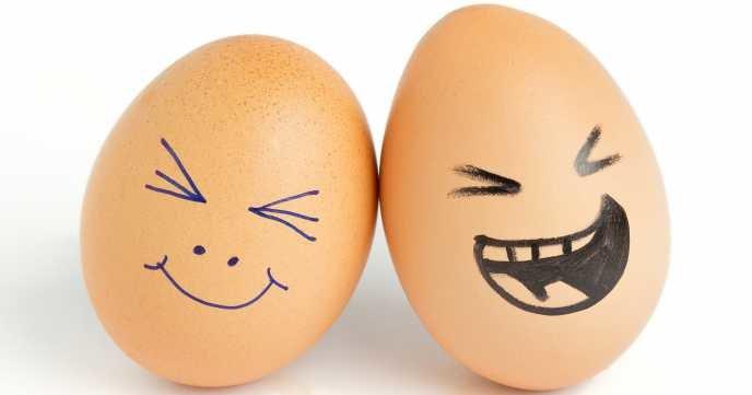 2 жареных яйца