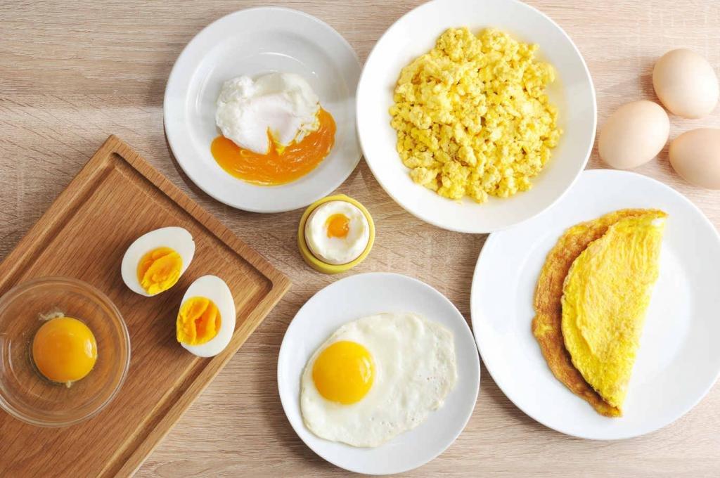 2 вареных яйца