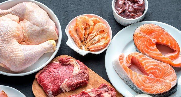 Белок в мясных и рыбных продуктах