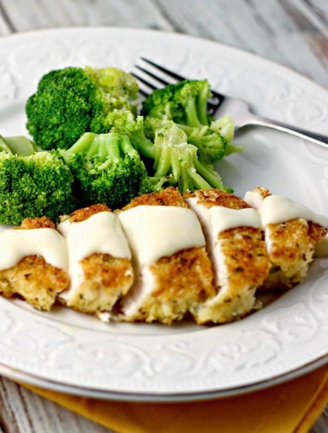 куриные рулетики с творожным сыром и зеленью