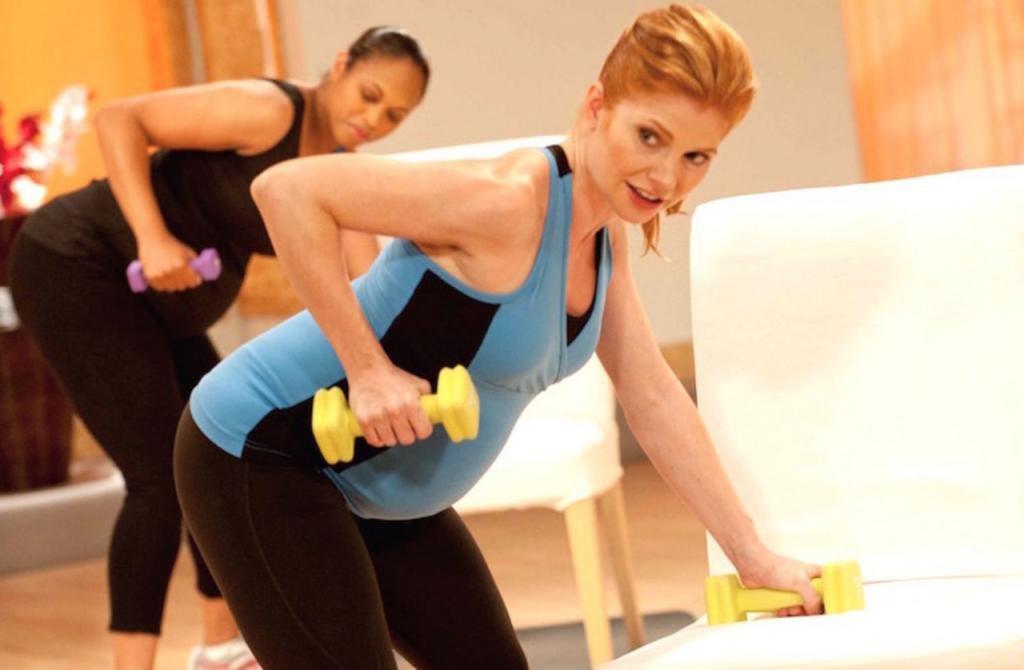 упражнения для беременных в зале
