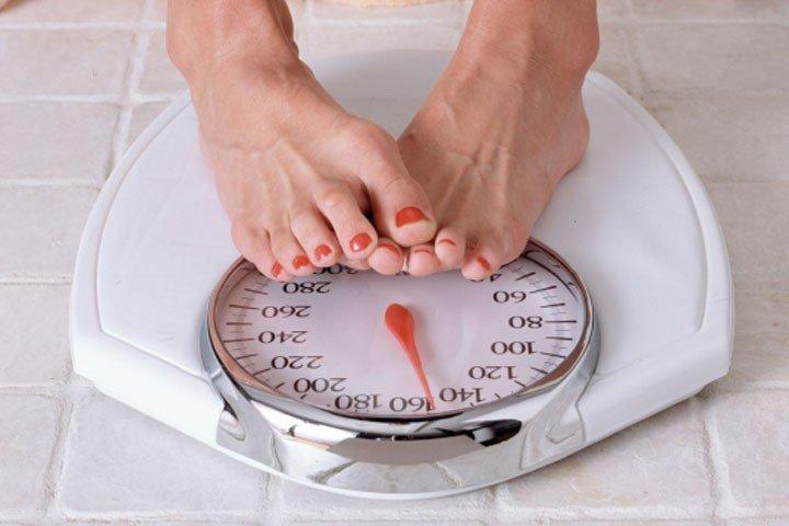 у женщины лишний вес