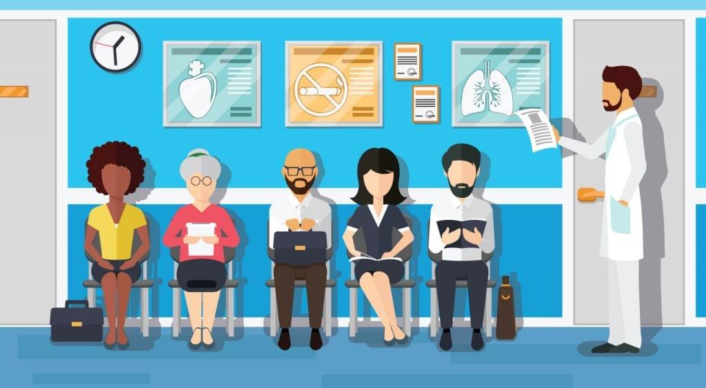 Очередь государственной клинике